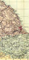 1891 ANTIQUE MAP County YORKSHIRE NORTH EAST Driffield BRIDLINGTON Helmsley WHITBY Malton  etc VERY DETAILED